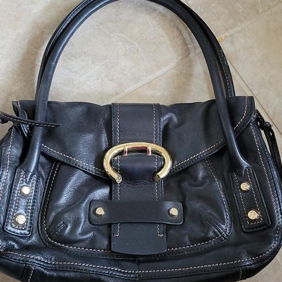 Francesco Biasia Black Leather Shoulder Bag